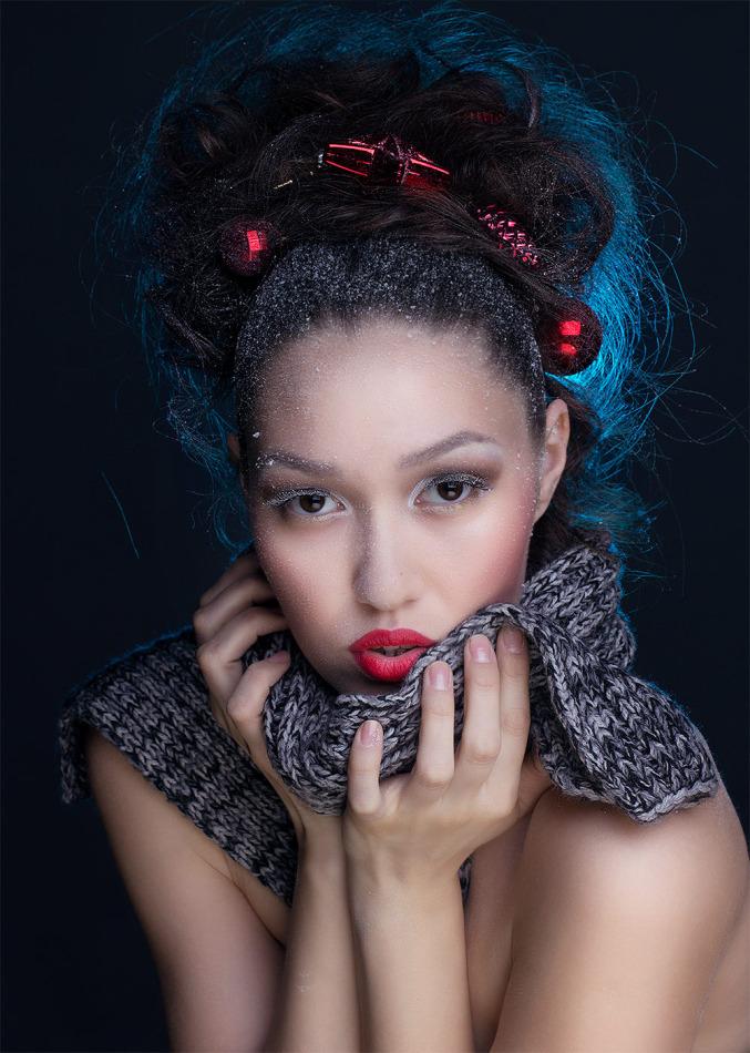 Glamourous girl | glamour, girl, red lipstick, hair-do