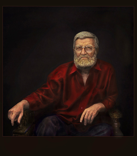 Old man with beard | old man, beard, armchair, portrait