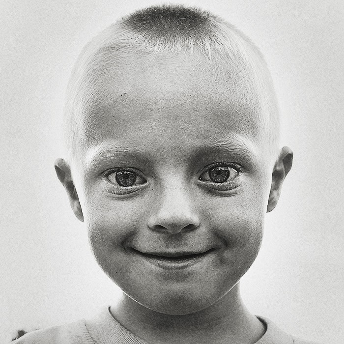 Damian   black and white, emotion, child