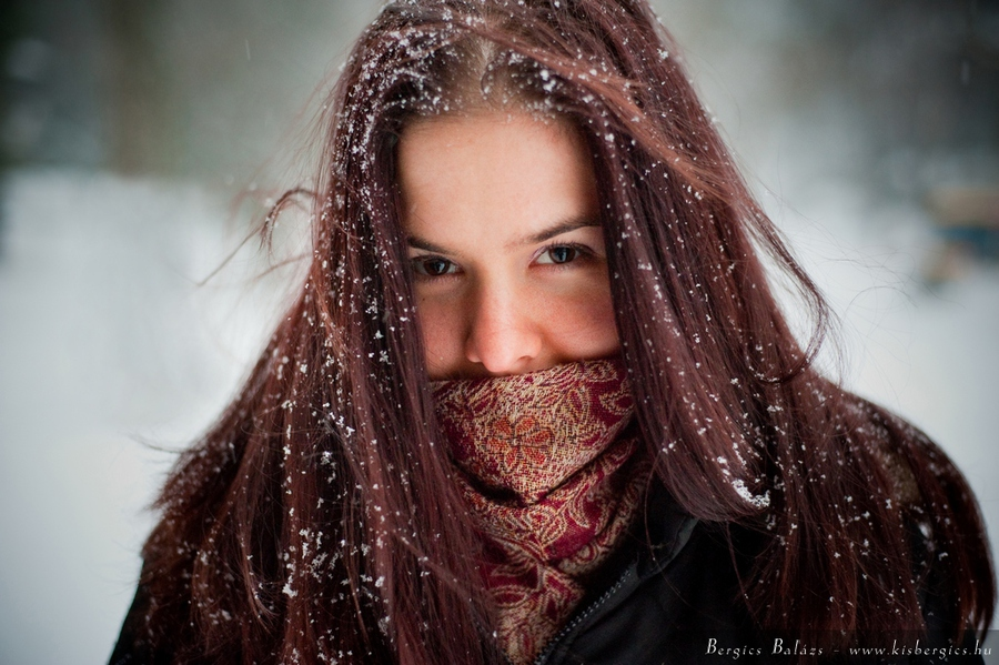 Winter portrait | winter, redhair, emotion